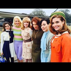 Instagram media by theastronautswivesclub - What a great picture! Zoe Boyle, Desmond Harrington, The Astronaut Wives Club, Erin Cummings, Dominique Mcelligott, Odette Annable, Wilson Bethel, Joanna Garcia, Real Wife