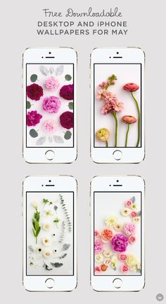 Fresh florals brighten this month's digital wallpapers