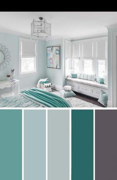 20 Beautiful Bedroom Color Schemes ( Color Chart Included ) – Decor Home Ideas 20 Beautiful Bedroom Color Schemes ( Color Chart Included ) Turquoise White Bedroom Color Scheme Living Room Color Schemes, Living Room Designs, Home Color Schemes, House Color Schemes Interior, Colorful Bedroom Designs, Color Schemes For Bedrooms, Teen Room Designs, Apartment Color Schemes, Color Schemes Design