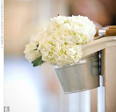 Image detail for -pew decorations wedding ceremony decor Pew Flowers, Church Flowers, White Hydrangea Centerpieces, White Hydrangeas, Centrepieces, White Flowers, Beautiful Flowers, Wedding Events, Our Wedding