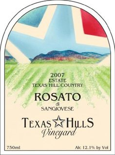 2007 Texas Hills Vineyard Rosato di Sangiovese 750 mL ** Read more reviews of the product by visiting the link on the image.