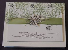 Snowflakes are Falling | Denise Foor Studio PA Stampin' Up! Endless Wishes, Flurry of Wishes, Heard from the Heart Card created by Judy Dibert