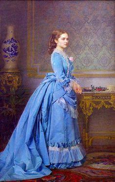 Карл Гун Портрет Варвары Григорьевны Солдатёнковой, рождённой Филипсон. 1873 г.