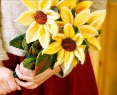 Holiday special price, IS Poking fun felt kit, 1 sunflower. Needle included.
