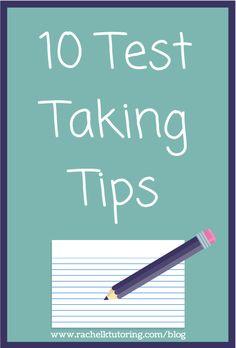 10 Test Taking Tips | Rachel K Tutoring Blog