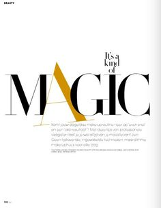 magazine - it doesn't seems to have  ligatures, swash alternates or dingbats