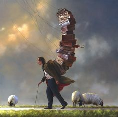 SUSPENDED ANIMATION BY JIMMY LAWLOR Surreal Photos, Surreal Art, Art Et Illustration, Illustrations, Jimmy Lawlor, Irish Painters, Suspended Animation, Magic Realism, Irish Art