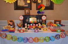 Rainbow Party Birthday Party Ideas   Photo 1 of 29   Catch My Party