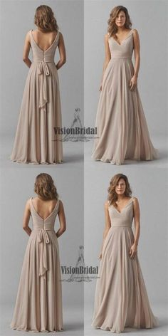 Double V-Neck Sky Blue Elegant Long Bridesmaid Dress Chiffon Wedding  Evening Dress 59f9ec7080c8