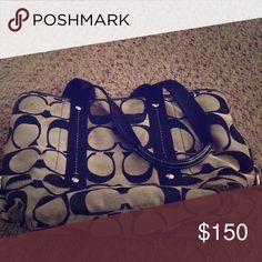 Coach purse Black and grey Coach purse. Very little use. Coach Bags Shoulder Bags