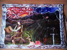 Фродо и Арагорн   Various types of heroes - Tolkien's Reading Day by Odamako
