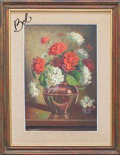 - Guerino Grosso  Vaso de Flores  Óleo sobre tela  55 alt X 38 larg (cm)  acie