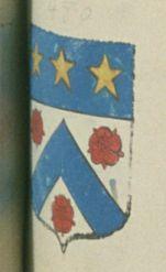 Honoré BERNEON, fils, avocat au parlement de Provence. Porte : d'argent, à un chevron d'azur accompagné de trois roses de gueules, deux en chef et une en pointe ; et un chef d'azur, chargé de trois étoiles d'or | N° 480