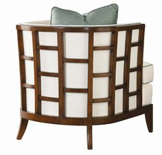 Ocean Club Exposed Grid Pattern Wood Abaco Chair by Tommy Bahama Home -
