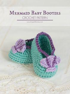 Hopeful Honey | Craft, Crochet, Create: Mermaid Baby Sandals - Free Crochet Pattern