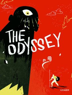 The Odyssey- Homer, cover by Ellis Latham-Brown