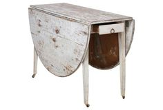 19th-c. Gustavian-style Drop-leaf Table