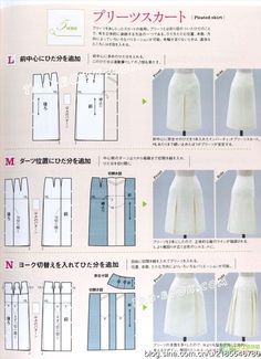 Basic patterns from mrs style book Dress Sewing Patterns, Clothing Patterns, Skirt Patterns, Sewing Clothes, Diy Clothes, Sewing Hacks, Sewing Tutorials, Modelista, Pattern Cutting
