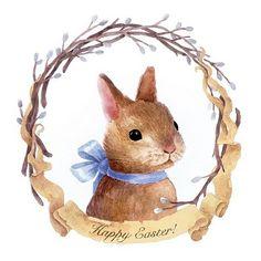 Watercolor Bunnies on Behance art watercolor Watercolor Bunnies Easter Art, Easter Crafts, Easter Bunny, Tattoo Kind, Easter Illustration, Diy Ostern, Rabbit Art, Bunny Art, Easter Printables