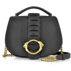 Roberto Cavalli Medium Leather Shoulder Bag