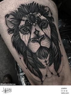 Kelly Violence Tattoo - Sam's Lion, Mangus
