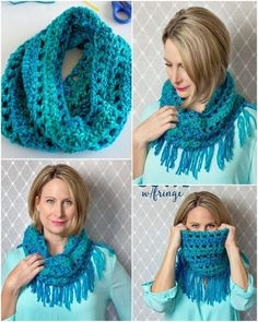Easy Crochet Scarf Patterns for Beginners: We all know that winter season is common soon and for the ladies wearing scarves is the top most favorite clothing item in their. Crochet Baby Cocoon, Cute Crochet, Easy Crochet, Knit Crochet, Crochet Cowl Free Pattern, Crochet Patterns, Crochet Ideas, Knitting Patterns, Crochet Gloves