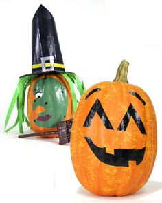 duct tape! Great idea!! Use duct tape to decorate pumpkins!