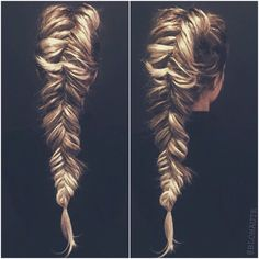 dutch fishtail braid...