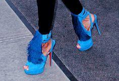 blue fringe louboutin's