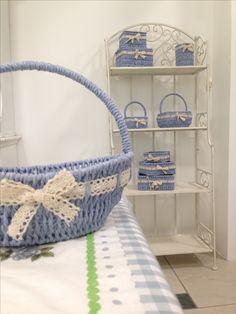 #vacchetti #vacchettispa #cestino #cestinoazzurro #biancoazzurro #scaffale #complementidarredo