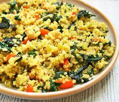 Quinoa Pilaf, Vegetarian Quinoa Recipe    Quick, Easy Gluten Free Vegan Quinoa Casserole Recipe