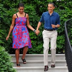 The first lady and Mr. President