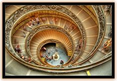 Spiral staircase in the Vatican Museum, Vatican City,  Italy