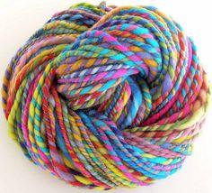 Handspun and Hand Dyed Merino Wool Bulky Yarn  by FiberFusion, $28.00