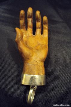 Joyeria: Hermosa mano tallada en madera de cerezo - Foto 3 - 71121913