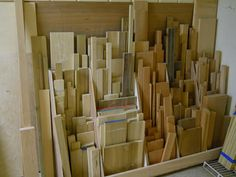 Well He Did Fill His Scrap Wood Storage But There Is A Lot That Didnt Fit And No Evidence It Going Away Yet