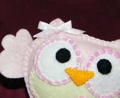 super cute owl from felt - pattern attached
