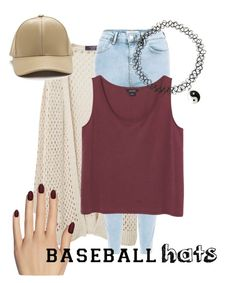 """❤️"" by a-kdesign ❤ liked on Polyvore featuring Violeta by Mango, New Look, Monki, Static Nails, baseballcap and baseballhats"