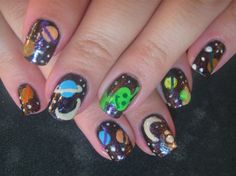 space by lela from Nail Art Gallery