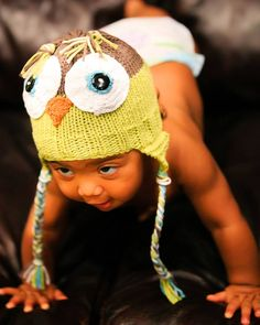 Owl Baby Hat Knitting Loom ~*~ Free Pattern