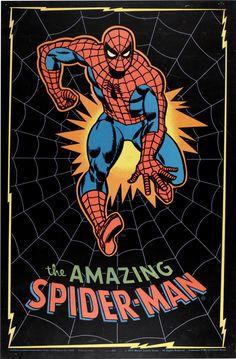 The Amazing Spider-Man black light poster