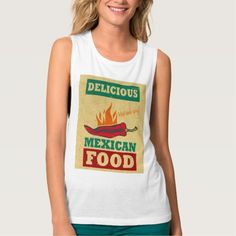 Mexican Food Flowy Muscle Tank Top Tank Tops