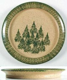 Three Rivers, Winter Pines-Brown (Hand Thrown) at Replacements, Ltd