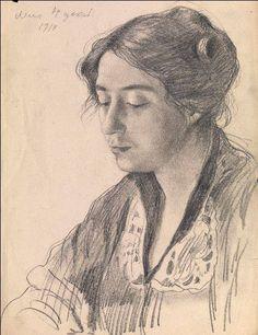 "Zinaida Serebryakova  ""Portrait of the Artist's Sister-in-Law Elena Lanceray"""
