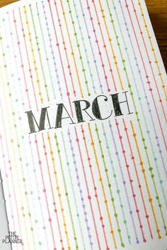 March Bullet Journal Ideas & Plan With Me ⋆ The Petite Planner