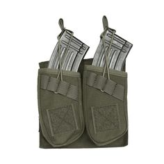 OneTigris AR/AK Double Open-Top Mag Pouch Tactical MOLLE Rifle Airsoft Quick Release M4/M16 Magazine Carrier Pouch