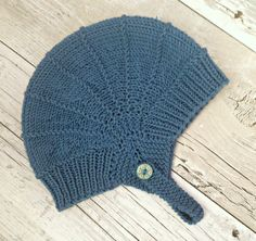 Baby Aviator Hat - Grey Blue, Hand Knit Baby Boy Hat, Infant Aviator Hat, Hand Knitted Baby Hat, Merino Baby Hat, Baby Ear Flap Hat by SnugCreations on Etsy