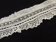 Antique Lacework Insertion Antique French Lace 1 by FrouFrouShoppe, $10.00