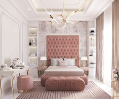 fascinating Pink Bedrooms With Images, Tips And Accessories To Help You Decorate Yours Welcome to a new collection of interior designs featuring 16 Awe-Inspiring Contemporary Bedroom Designs That You Must See Right Now. Luxury Bedroom Design, Room Design Bedroom, Room Ideas Bedroom, Home Room Design, Home Decor Bedroom, Luxury Kids Bedroom, Elegant Bedroom Design, House Design, Teen Bedroom Designs