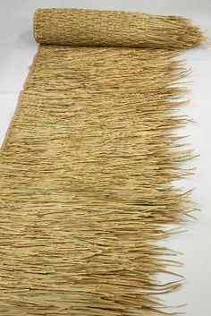 "Tiki Bar Style Thatching Runner 30"" x 17 feet Natural 69"